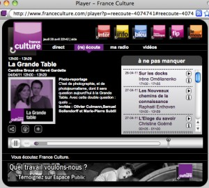 Guest on the La Grande Table radio broadcast on France Culture ...